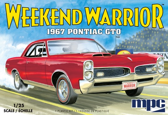 1967 Pontiac GTO (3 in 1) w/Starting Light 1/25 MPC Models Plastic Model Kit - shore-line-hobby