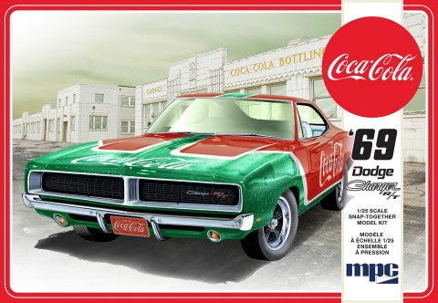 1969 Dodge Charger RT (Coca Cola) Snap (2T) Plastic Model Kit 1:25 MPC - shore-line-hobby