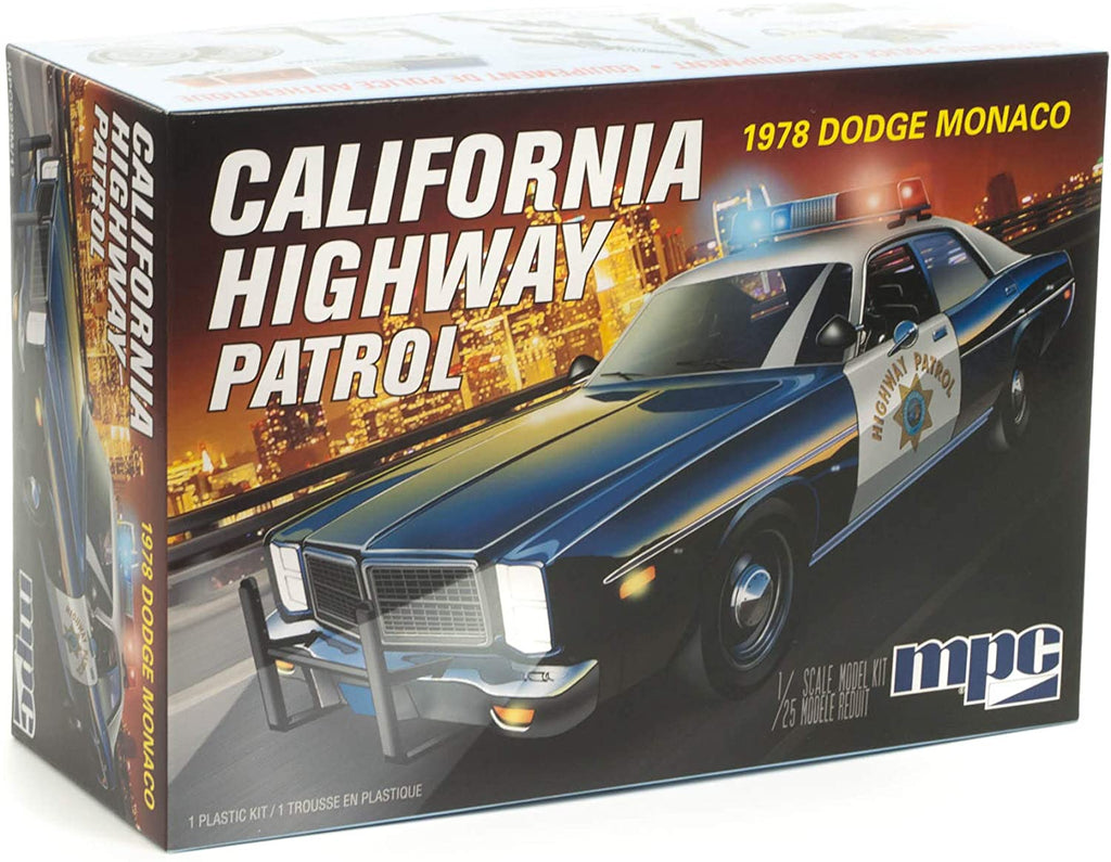 MPC 1978 Dodge Monaco California Highway Patrol 1/25 Plastic Model Kit 922 - Shore Line Hobby