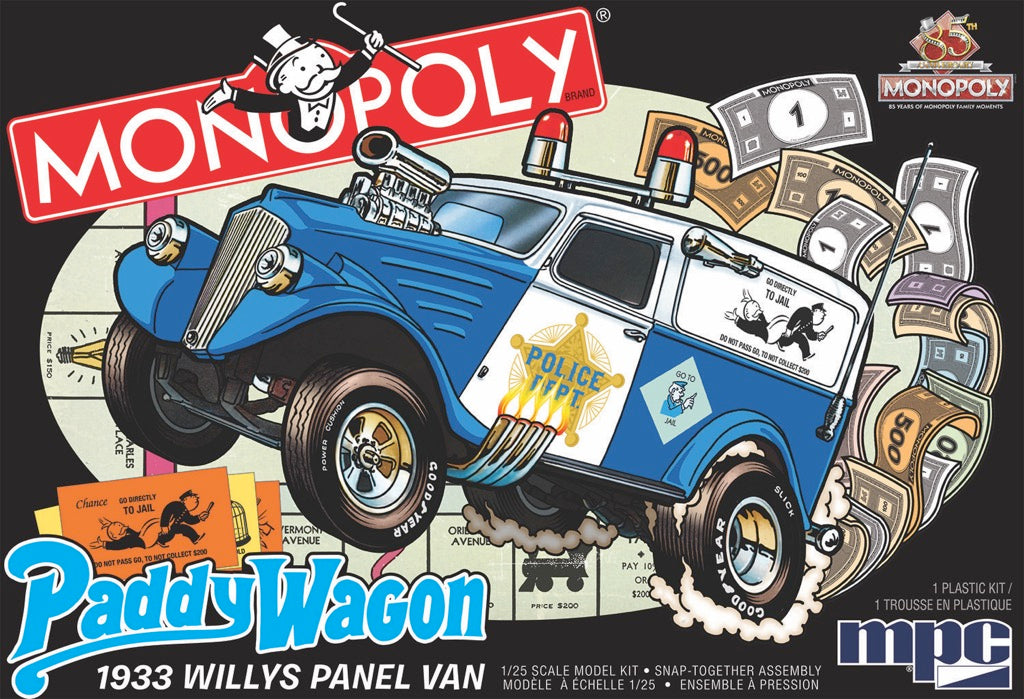 MPC 1933 Willys Panel Paddy Wagon (Monopoly) 1/25 924 Snap Model Kit - Shore Line Hobby