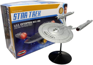 Polar Lights Star Trek Discovery USS Enterprise NCC-1701 1:2500 Scale Model Kit - shore-line-hobby