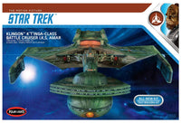 Round 2 Klingon K't'inga I.K.S. AMAR 1:350 Scale Model Kit Polar Lights 950 - Shore Line Hobby