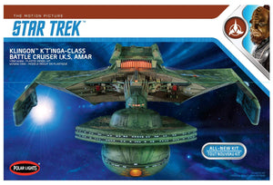 Round 2 Klingon K't'inga I.K.S. AMAR 1:350 Scale Model Kit Polar Lights 950