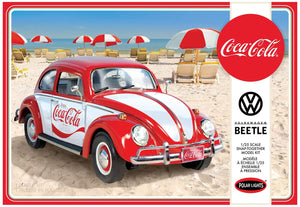 Coca Cola VW Beetle Car Snap Kit 1/25 Polar Lights 960 - shore-line-hobby