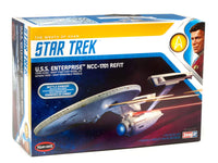 Polar Lights Star Trek U.S.S. Enterprise Refit Wrath of Khan Edition 2T 1/1000 Scale Snap - Shore Line Hobby