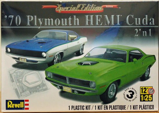 1970 Plymouth Hemi Cuda Plastic Car Model Kit 1/25 85-4268 Revell - shore-line-hobby