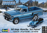 Revell 1980 Jeep Honcho Ice Patrol 1/24 85-7224 Plastic Model Kit - shore-line-hobby