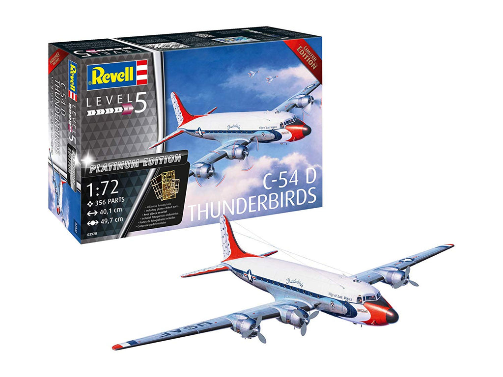 Revell RV03920 C-54D Blue Angels Platinum Edition Model Kit 1/72 - Shore Line Hobby