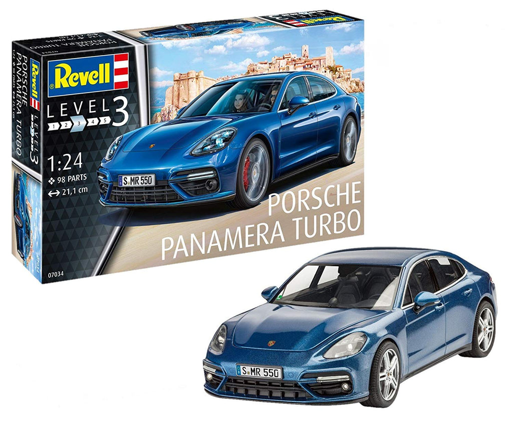 Revell Porsche Panamera Turbo 1/24 7034 Plastic Model Kit - shore-line-hobby