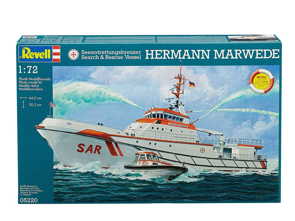 Revell 5220 Hermann Marwede Search And Rescue Vessel Model Kit 1/72 - Shore Line Hobby