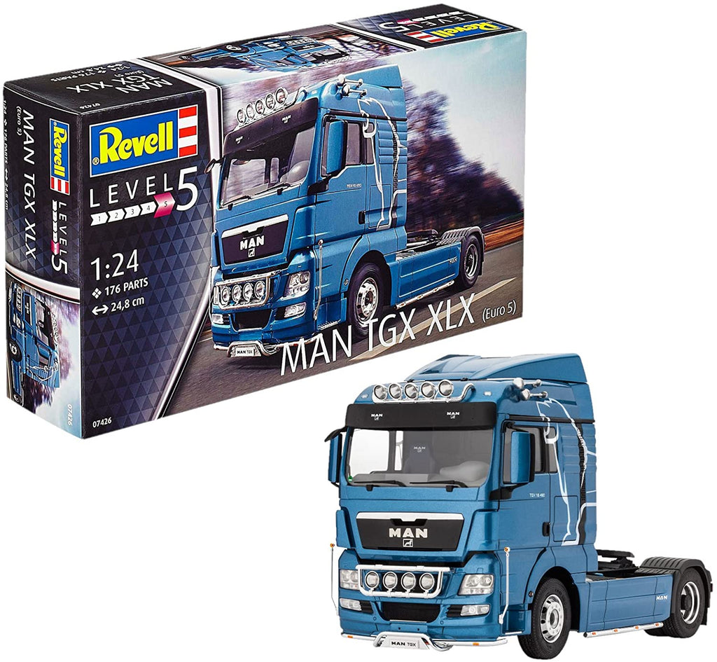 Revell Germany Man TGX XLX 07426 1/24 Plastic Model Truck Kit - Shore Line Hobby