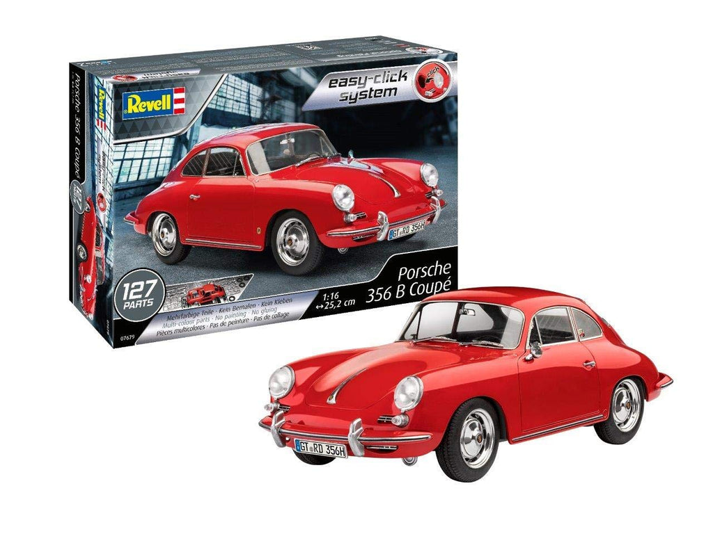 Porsche 356 B Coupe (Snap) 1/16 Revell Germany 7679 Plastic Model Kit - Shore Line Hobby
