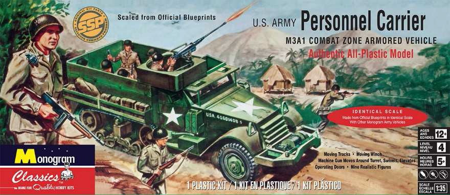 M3A1 US Army Personnel Carrier 1/35 Revell-Monogram 0035 - shore-line-hobby