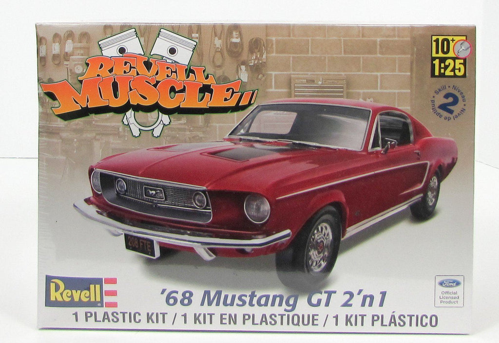 1968 Ford Mustang GT Revell Muscle 85-4215 1/25 Plastic Car Model Kit - shore-line-hobby