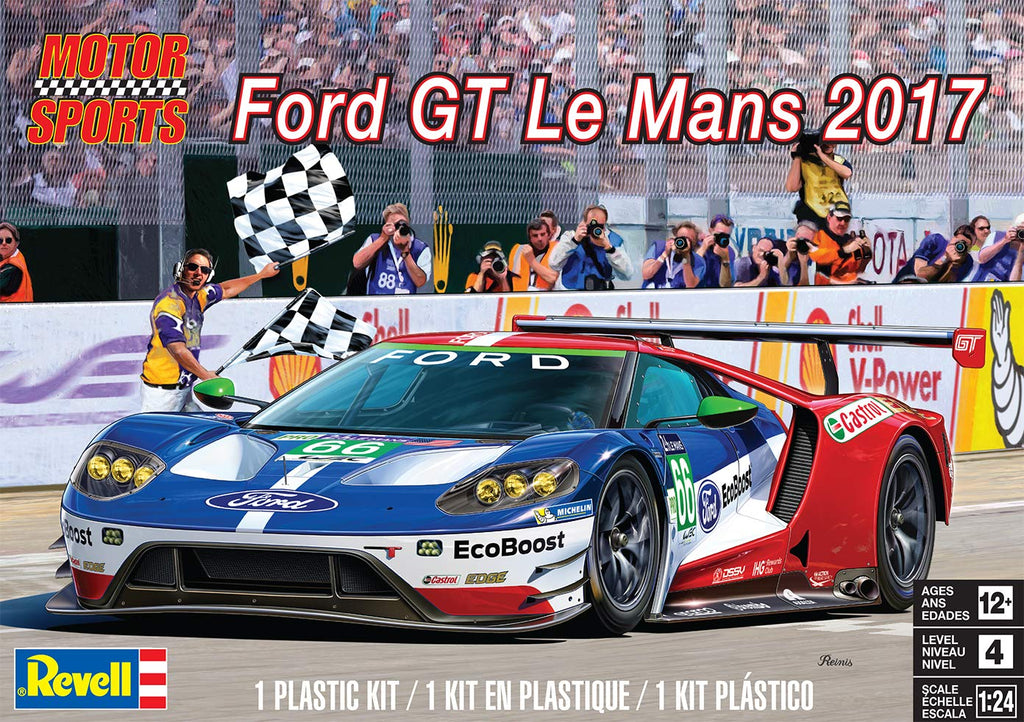 Revell Ford GT Le Mans 2017 Plastic Model Kit 1:24 4418 - shore-line-hobby