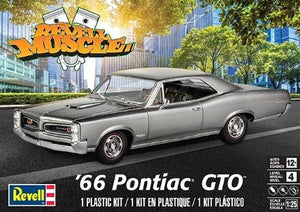 Revell Muscle 1966 Pontiac GTO 85-4479 1/25 Plastic Model Car Kit