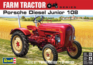 Revell Porsche Diesel Junior 108 Farm Tractor 4485 1/24 Plastic Model Kit - shore-line-hobby
