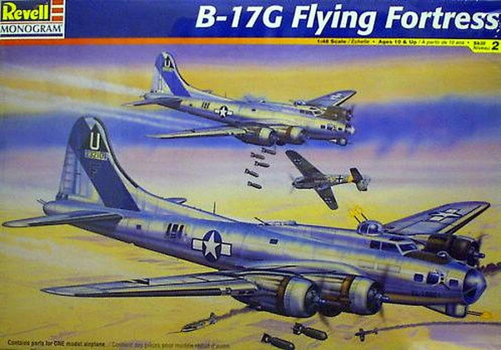 Revell B17G Flying Fortress 1:48 Scale Plastic Model Airplane Kit 5600 - Shore Line Hobby