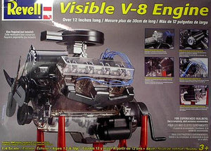 Revell 1/4 Visible V8 Engine w/Working Hand Crank 8883 - shore-line-hobby