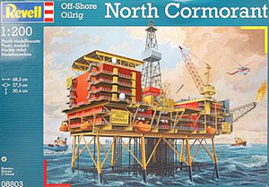 Revell 1/200 Off-Shore Oil Rig North Cormorant 8803 - shore-line-hobby