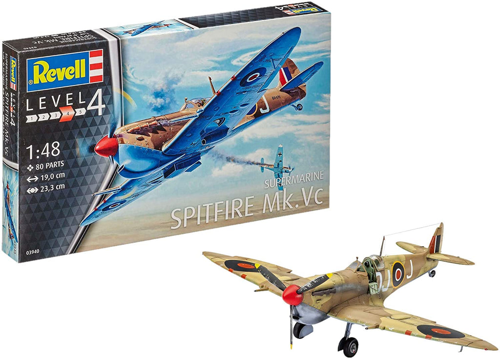 Revell of Germany Super Marine Spitfire Mk.VC Plastic Model Kit 1/48 3940 - Shore Line Hobby