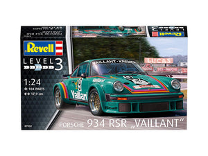 Porsche 934 RSR Vaillant Race Car 1/24 Revell Germany 07032 Model Car Kit