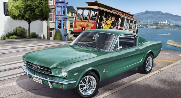 Revell Germany 1965 Ford Mustang 2+2 Fastback Plastic Model Kit (1/25 Scale) - shore-line-hobby