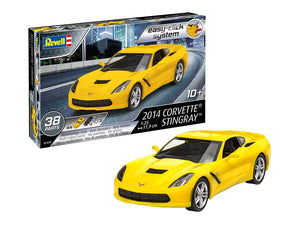 Revell 7449 1:25 2014 Corvette Stingray (Easy-Click) Plastic Model Kit, Multicolour, 1/25 - shore-line-hobby