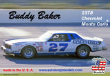 Buddy Baker 1978 Chevrolet ® Monte Carlo Salvino JR Models 1/25 Model Kit - shore-line-hobby