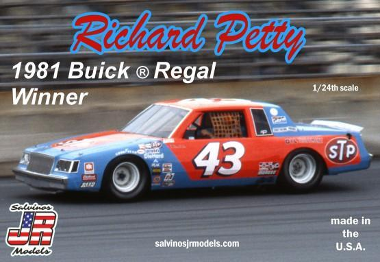Richard Petty 1981 Daytona Winner Buick®Regal Salvino JR Models 1/24 Model Kit - Shore Line Hobby