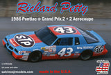 SALVINOS JR. 1/24 RICHARD PETTY #43 PONTIAC GRAND PRIX 1986 2+2 AEROCOUPE WINSTON CUP RACE CAR KIT - Shore Line Hobby
