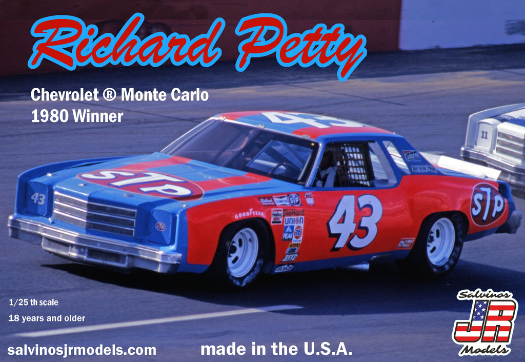 Richard Petty Chevrolet ® Monte Carlo 1980 Winner Salvino JR Models 1/25 Model Kit - shore-line-hobby