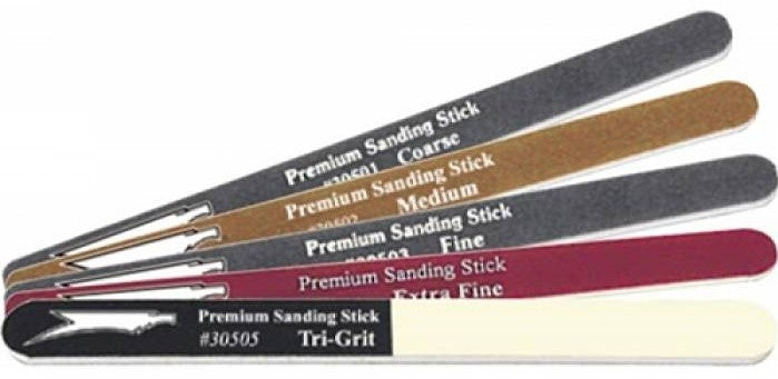 Sanding Stick Value Pack Squadron Tools 30506 Pack of 5 - shore-line-hobby