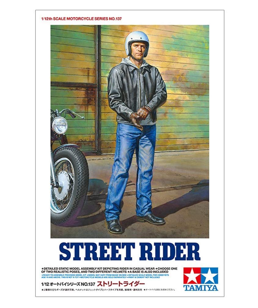 Tamiya 14137 1/12 Street Motorcycle Rider Plastic Model Kit - Shore Line Hobby