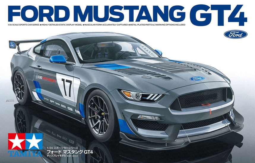 Tamiya Ford Mustang GT4 1/24 24354 Plastic Model Kit - Shore Line Hobby
