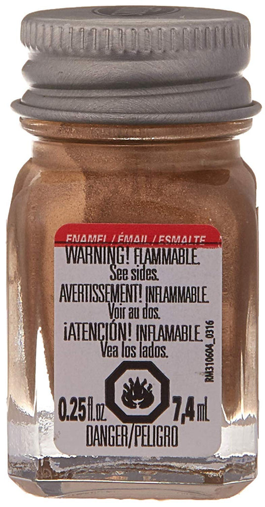 Testors 1144 1/4oz Bottle Finishing Enamel Metallic Gold Paint - shore-line-hobby