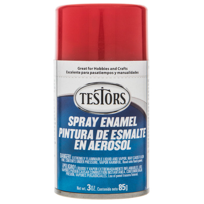 Testors 1203 Gloss Red Spray Enamel 3oz