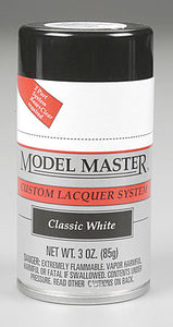 Testors 28131 3oz. Spray Model Master Auto Lacquer Classic White