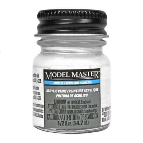 Testors # 4696 1/2oz Bottle Acrylic Gloss White Paint - shore-line-hobby