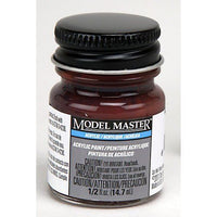 Testors # 4861 1/2oz Bottle Acrylic Reddish Brown Paint - shore-line-hobby