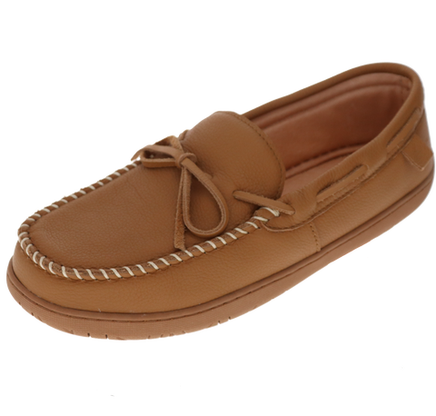 "Foamtreads ""Lake Placid"" Leather Slipper - Tan"