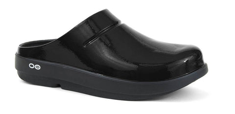 Womens Oofos Luxe Ooclog 1201-BLK Black