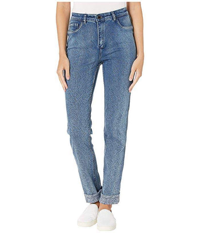 FDJ Suzanne Reversible Straight Leg Printed Denim 6749132-Indigo