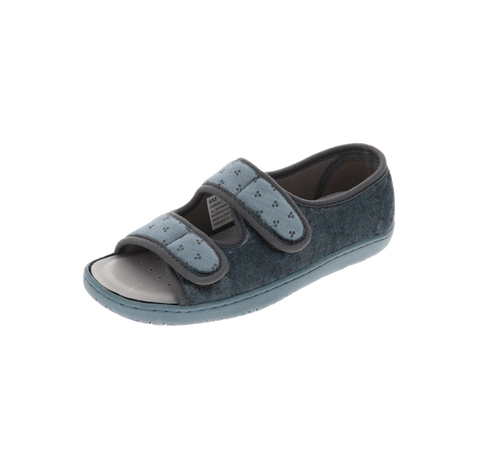 "Womens Foamtreads Open-Toe ""Debbien 2"" Slipper - Grey"