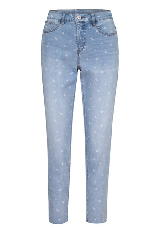 Tribal Audrey 5-pocket Printed Ankle Jegging 6792O-292B-2488 Blueglow
