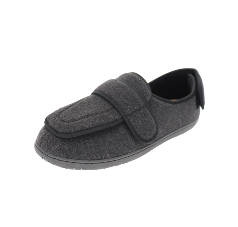 "Mens Foamtreads ""Physician M2"" Extra-Deep Slipper - Black"