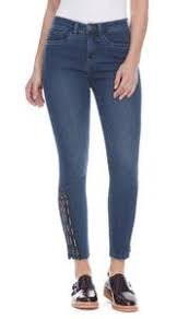 FDJ Olivia Slim Ankle Embroidered Jean 2889669-Midnight