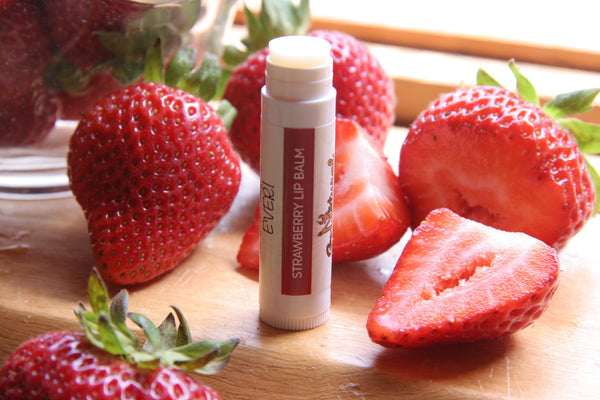 Lip Balm -Strawberry - Go Natural Goat Milk Beauty Products