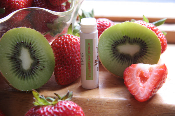 Lip Balm -Strawberry Kiwi - Go Natural Goat Milk Beauty Products
