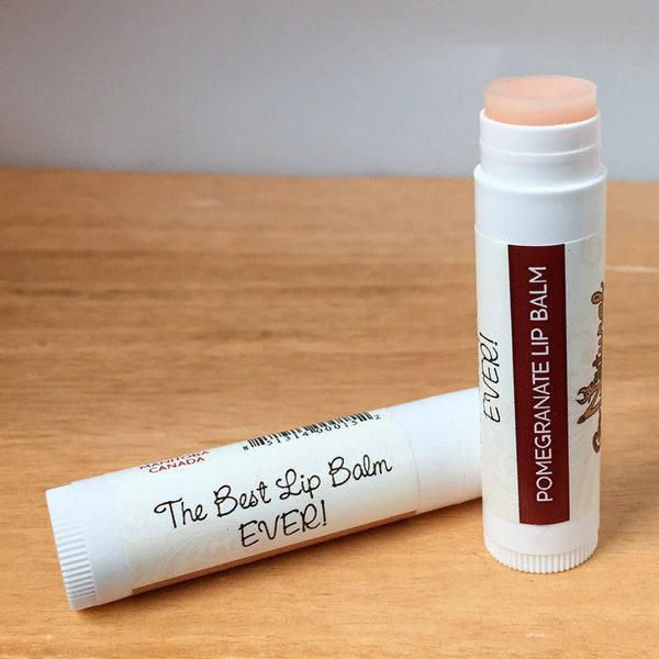 Lip Balm -Pomegranate - Go Natural Goat Milk Beauty Products